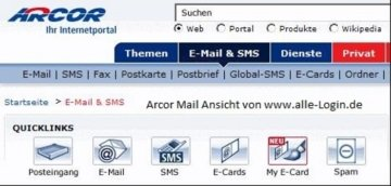 Arcor eMail