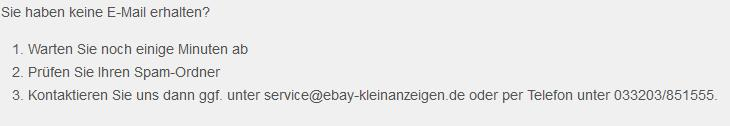 Ebay Kleinanzeigen Passwort Bestätigung