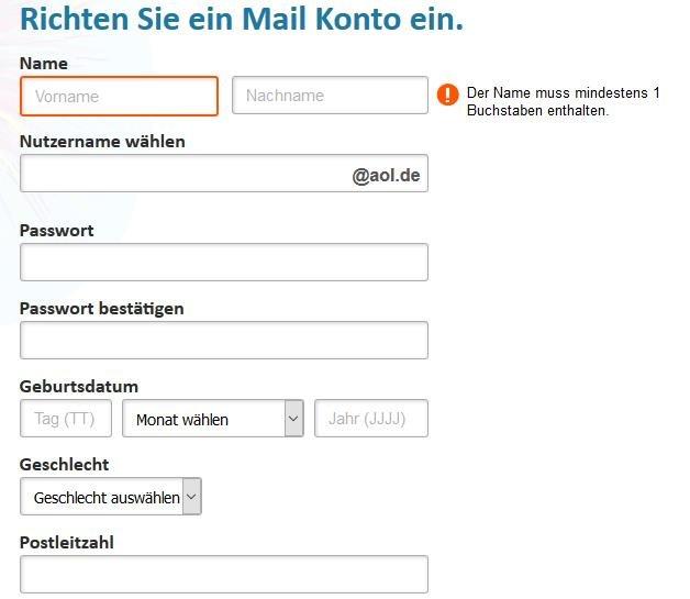 aol mail anmeldung