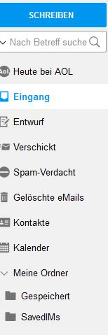 aol mail aufbau account