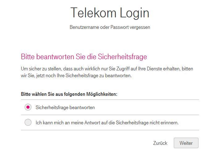 sicherheitsfrage T-Online Mail