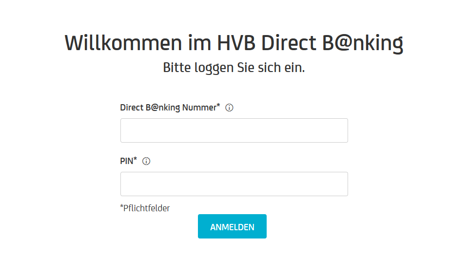 LogIn HypoVereinsbank HVB Login